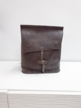 Leather Backpack Mini - Dark Brown   Genuine Leather   Women's   Handmade in Kenya