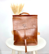 Leather Backpack Mini - Rust Brown | Genuine Leather | Women's | Handmade in Kenya