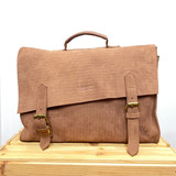 Briefcase/Laptop/Attache Bag - Tan Brown | Unisex | Genuine Leather | Handmade in Kenya