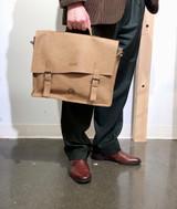 Briefcase/Laptop/Attache Bag - Tan | Unisex | Genuine Leather | Handmade in Kenya