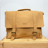 Briefcase/Laptop/Attache Bag - Tan | Unisex | Genuine Leather | Handmade in Kenya