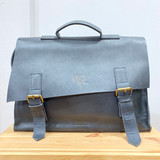 Briefcase/Laptop/Attache Bag - Dark Blue | Unisex | Genuine Leather | Handmade in Kenya