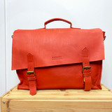 Briefcase/Laptop/Attache Bag - Red | Unisex | Genuine Leather | Handmade in Kenya