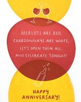 Greeting Card | Anniversary Wine