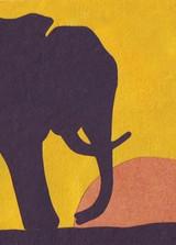 Greeting Card | Sunset Elephant
