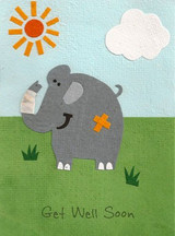 Greeting Card | Get Well Elephant