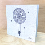 Mandala Swing | Recycled Paper Plantable Greeting Card | Handmade in South Africa