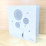 Mandala Balloons | Recycled Paper Plantable Greeting Card | Handmade in South Africa