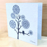 Mandala Tree | Recycled Paper Plantable Greeting Card | Handmade in South Africa