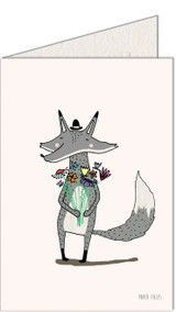 Fox & Flowers | Recycled Paper Plantable Greeting Card | Handmade in South Africa