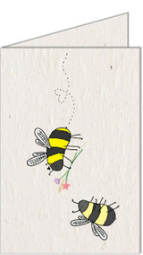 Bee love | Recycled Paper Plantable Greeting Card | Handmade in South Africa
