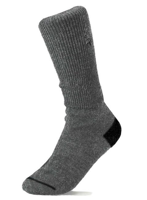 Alpaca Socks - Business - Charcoal (M) | Handmade in Peru
