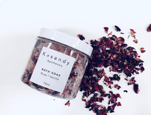 Bath Soak | Rose & Vanilla | Handmade in Vancouver - 16oz