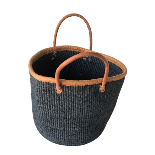 "Kiondo Basket - Black | 12"" - Shopper, Storage, Decor"