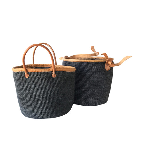 Kiondo Basket - Black Single Strap | Large - Shopper, Storage, Decor