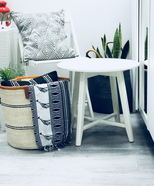 Throw/Sofa Pillows | Grey | Geometric Design - 20inch