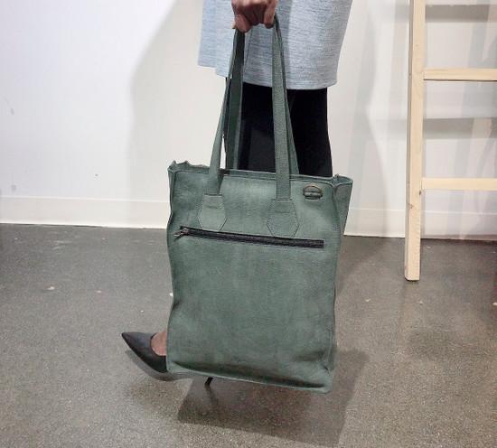 Genuine Leather Tote/Laptop Bag/Briefcase for Women | Light Grey | Handmade in Kenya