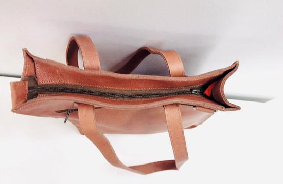 Genuine Leather Tote/Laptop Bag/Briefcase for Women | Light Brown | Handmade in Kenya