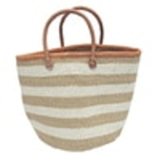 Kiondo Basket | Natural + 3 Stripes | 12.5"