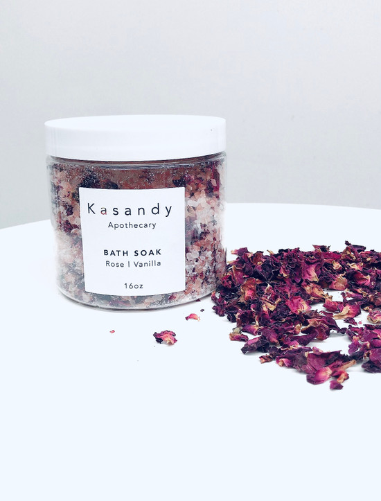 Bath Soak | Rose & Vanilla | Handmade in Vancouver - 16oz