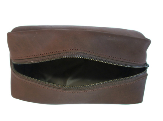 Leather Wash-Toiletry-Makeup Bag  | Small | Handmade in Kenya