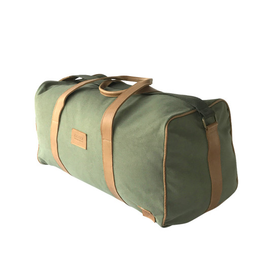 99cdb7cbdbf Travel - Weekender Duffle Bag   Olive Green Canvas - Leather   Large