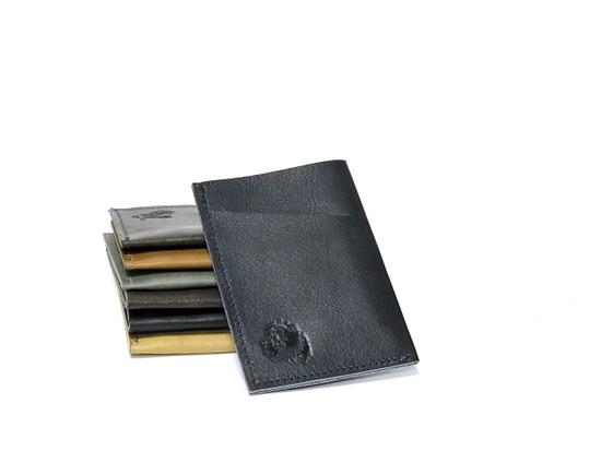 Genuine Leather Handmade Card Holder   Men's Wallet - Dark Blue