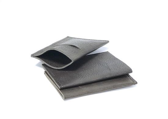 Genuine Leather Handmade Card Holder   Men's Wallet - Textured Brown