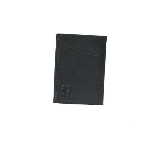 Genuine Leather Handmade Card Holder   Men's Wallet - Black
