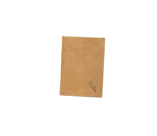 Genuine Leather Handmade Card Holder   Men's Wallet - Tan