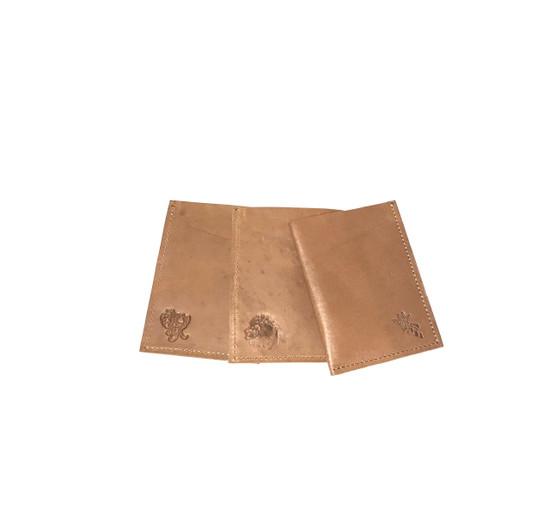 Genuine Leather Handmade Card Holder   Men's Wallet - Light Brown