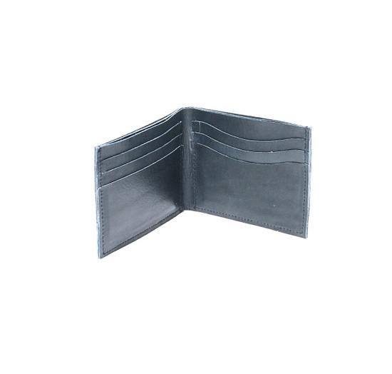 Genuine Leather Handmade Men's Wallet - Dark Blue