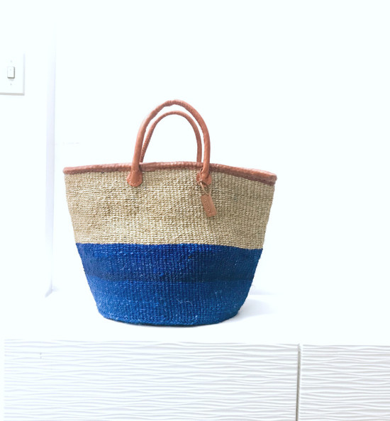 Kiondo Basket - Blue & Natural Two Tone | Large - Shopper, Storage, Decor