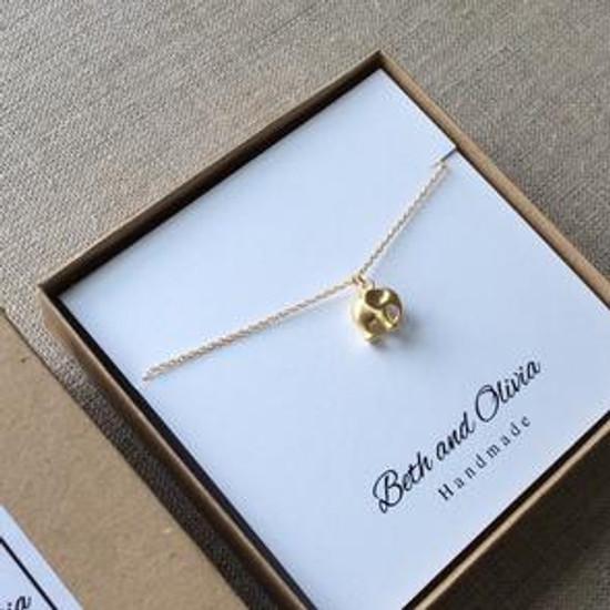 Gold Charm Necklace - Elephant | Beth & Olivia | Handmade in Canada