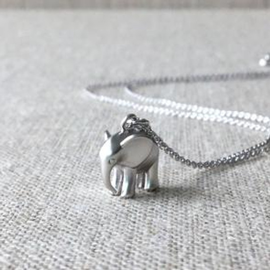 Silver Charm Necklace - Elephant | Beth & Olivia | Handmade in Canada