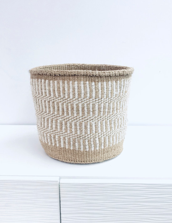 "Kiondo Basket - Light Brown - 10"" | Planter, Storage, Decor"