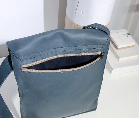 "Leather Satchel - 14"" - Dark Grey | Genuine Leather | Unisex | Handmade in Kenya"