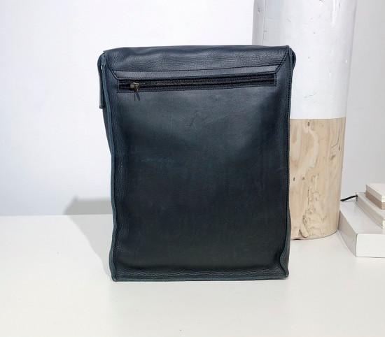 "Leather Satchel - 14"" - Black | Genuine Leather | Unisex | Handmade in Kenya"