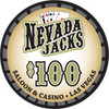 Nevada Jacks Saloon Series $100 chip