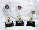 Poker Trophy Set - Clear Backdrop