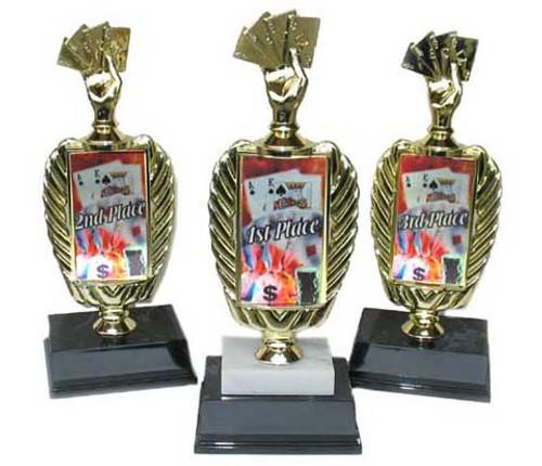 Photo Poker Trophy Set