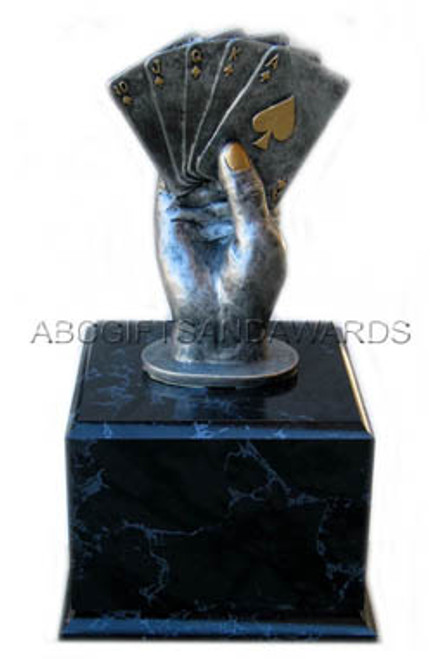Poker Trophy - Big Slick Pedestal