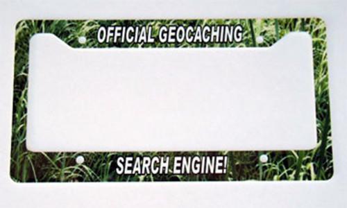 Custom license plate frame - geocaching