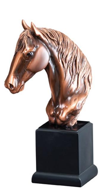 Bronze coated horse racing sculpture