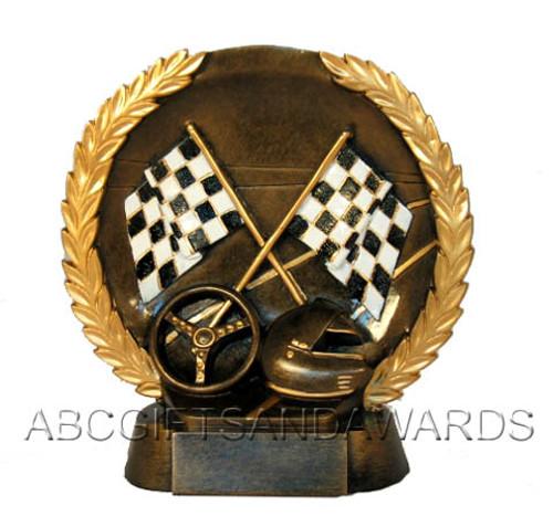 Racing Trophy - Round Resin award