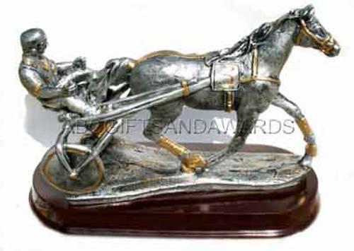 huge harness racing trophy sculpture
