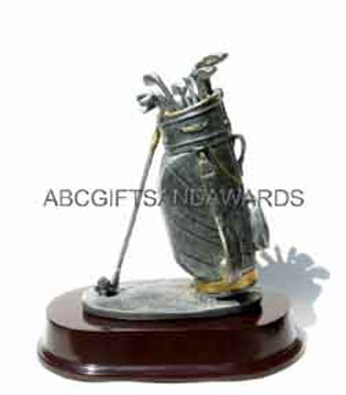 Golf Trophy - Large Bag Sculpture
