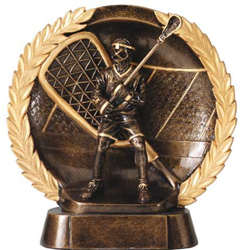 Lacrosse trophy - round resin award