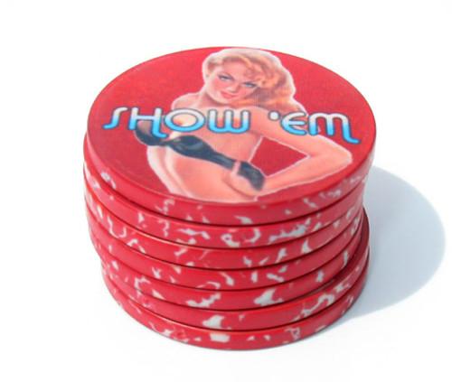 Show'em Poker Chips - Pinup girl