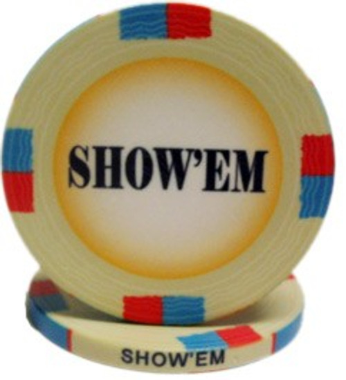 Classic Show'em Poker Chips